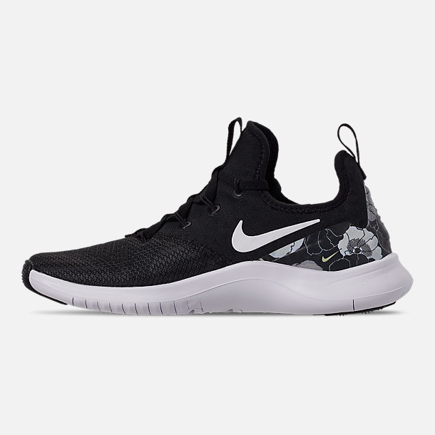 Left view of Women's Nike Free TR 8 AMP Training Shoes in Black/White