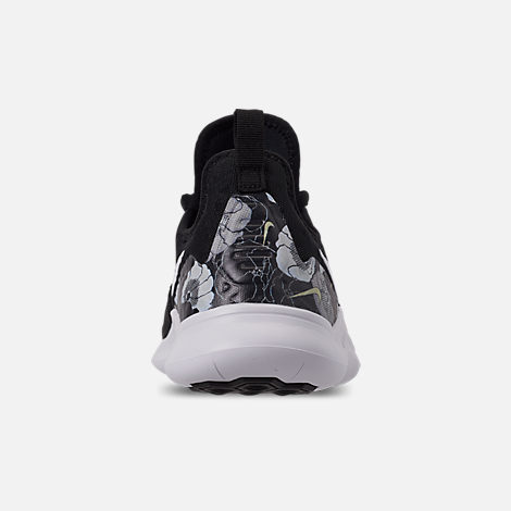 Back view of Women's Nike Free TR 8 AMP Training Shoes in Black/White