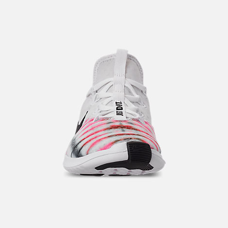 Front view of Women's Nike Free TR 8 AMP Training Shoes in White/Black/Sunset Pulse