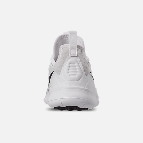 Back view of Women's Nike Free TR 8 AMP Training Shoes in White/Black/Sunset Pulse