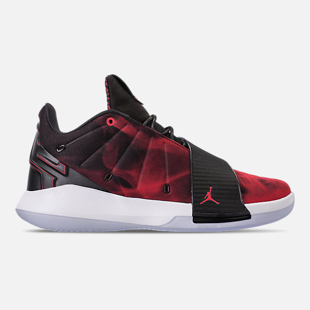 Right view of Men's Air Jordan CP3.XI Basketball Shoes in University Red/Black