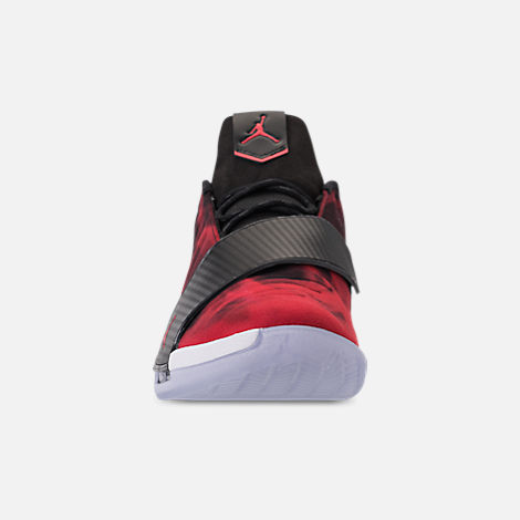 Front view of Men's Air Jordan CP3.XI Basketball Shoes in University Red/Black