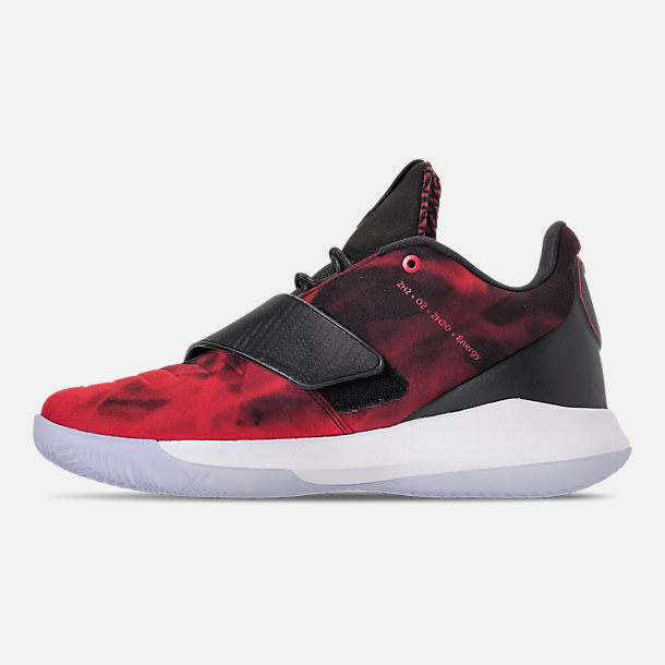 Left view of Men's Air Jordan CP3.XI Basketball Shoes in University Red/Black