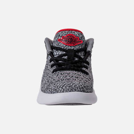 Front view of Boys' Toddler Air Jordan XXXII Basketball Shoes in Black/University Red/White