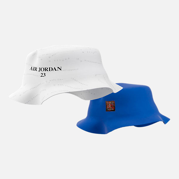 0955cb229c07 ... italy front view of air jordan retro 10 accolades bucket hat in white hyper  royal e10dc