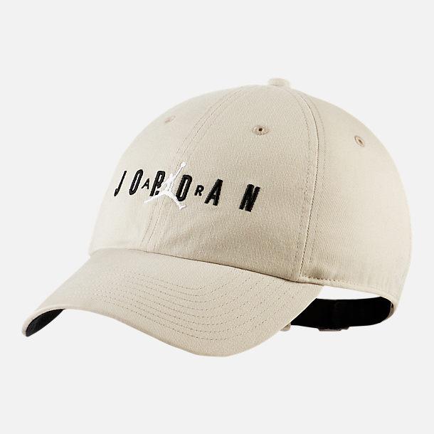 d41f9a6040a ... sweden front view of jordan heritage86 air strapback hat in light bone  black f91df ddd6a ...