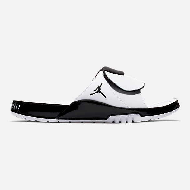 fc0ed9efaae0ae Right view of Men s Jordan Hydro XI Retro Slide Sandals in  White Black Concord