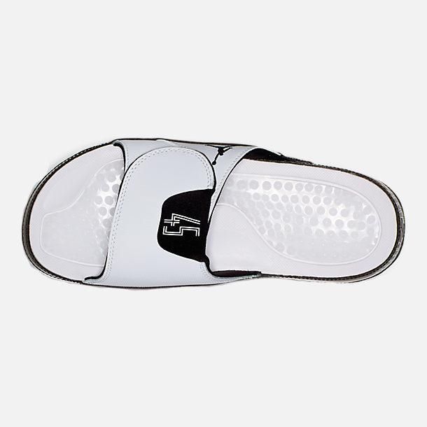 2458eff6bf050 Top view of Men s Jordan Hydro XI Retro Slide Sandals in White Black Concord
