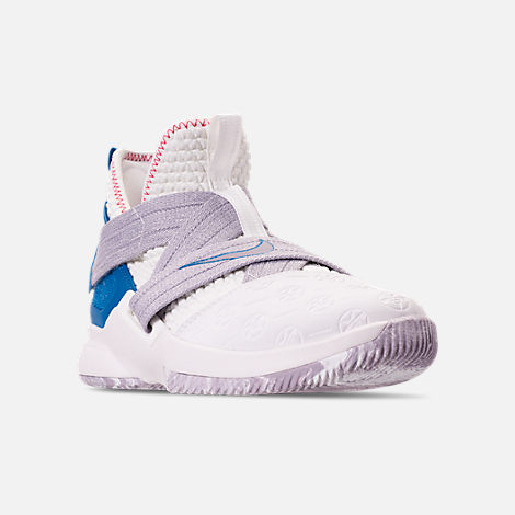89f31c2cc0a Three Quarter view of Boys  Big Kids  Nike LeBron Soldier 12 Basketball  Shoes in