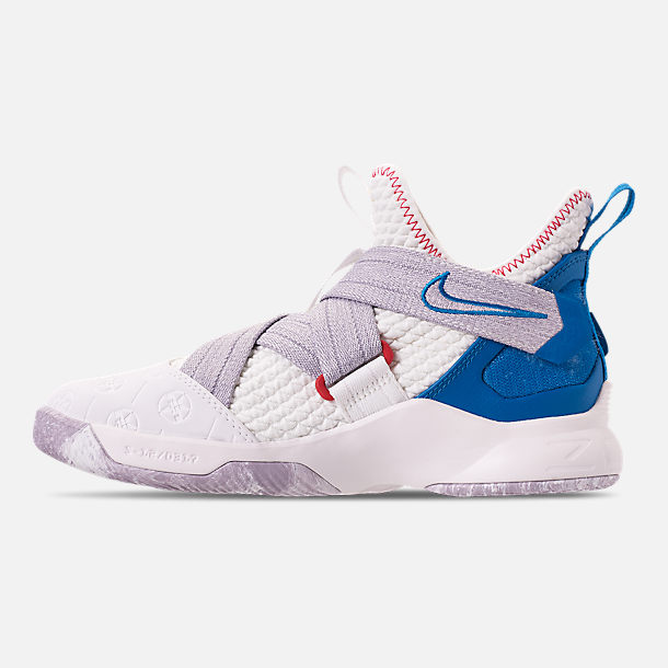 f4fee13d5cb Left view of Boys  Big Kids  Nike LeBron Soldier 12 Basketball Shoes in  Summit