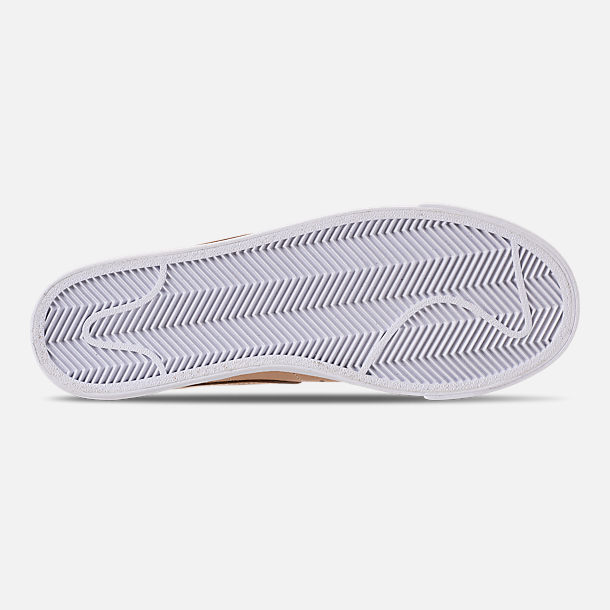 Bottom view of Women's Nike Blazer Low SE Premium Casual Shoes in Bio Beige/White/Metallic Silver