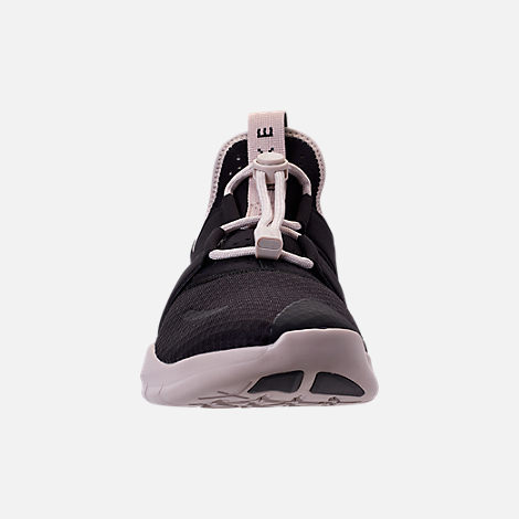 Front view of Men's Nike Free RN Commuter 2018 Running Shoes in Black/Oil Grey/Black/Phantom/String