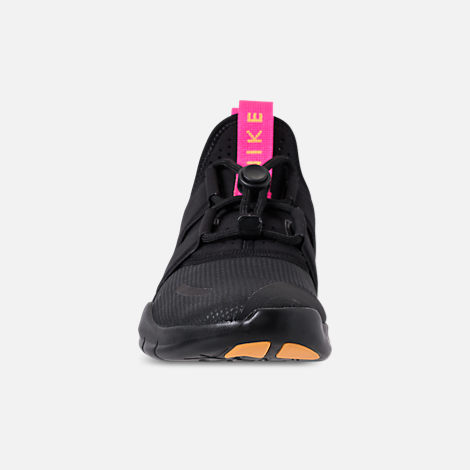880ddf580581d Front view of Women s Nike Free RN Commuter 2018 Running Shoes in  Black Pink Blast