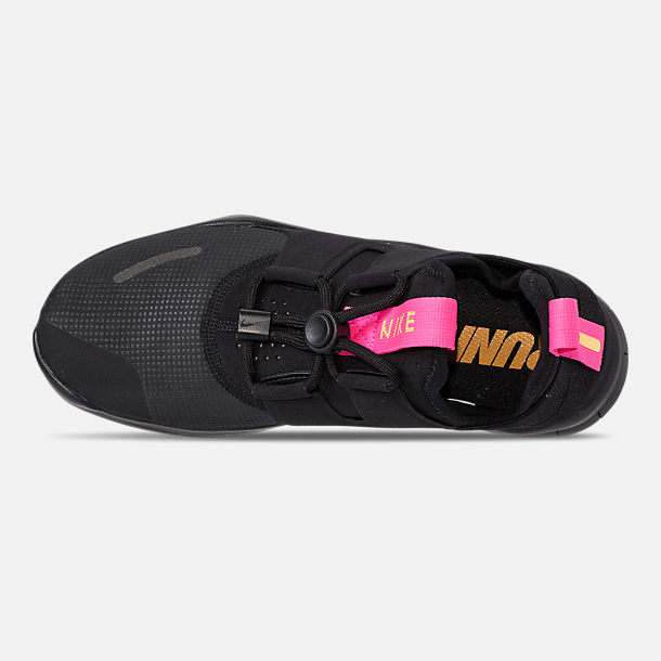 4c00c1e1abf34 Top view of Women s Nike Free RN Commuter 2018 Running Shoes in Black Pink  Blast