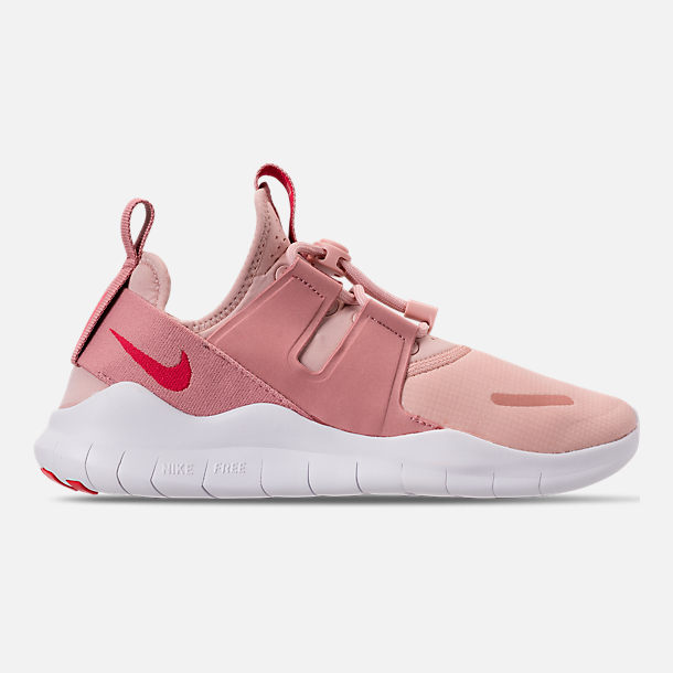 Right view of Women's Nike Free RN Commuter 2018 Running Shoes in Particle Beige/Tropical Pink/Rust