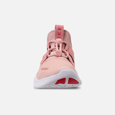 Front view of Women's Nike Free RN Commuter 2018 Running Shoes in Particle Beige/Tropical Pink/Rust
