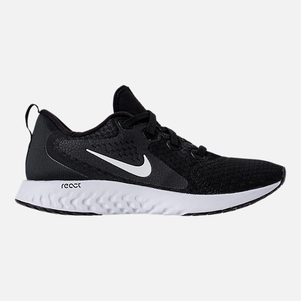 da6294b62435 Right view of Women s Nike Legend React Running Shoes in Black White