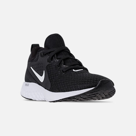 sale retailer 0d620 32b05 Three Quarter view of Womens Nike Legend React Running Shoes in BlackWhite