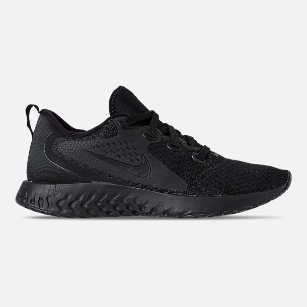 Right view of Women's Nike Legend React Running Shoes in Black/Black
