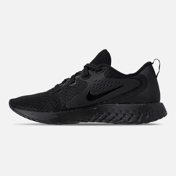 Left view of Women's Nike Legend React Running Shoes in Black/Black
