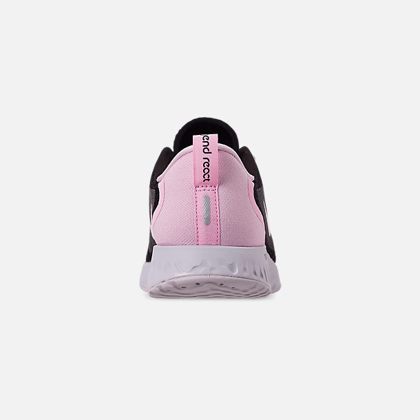 Back view of Women's Nike Legend React Running Shoes in Black/Pink Foam/Vast Grey