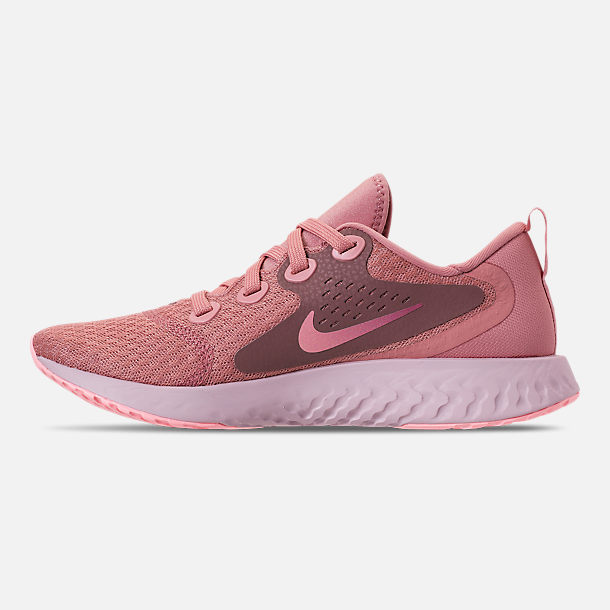 Left view of Women's Nike Legend React Running Shoes in Rust Pink/Pink Tint/Smokey Mauve