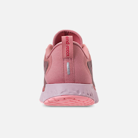Back view of Women's Nike Legend React Running Shoes in Rust Pink/Pink Tint/Smokey Mauve