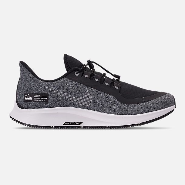 Right view of Men's Nike Air Zoom Pegasus 35 Shield Running Shoes in Black/Metallic Silver/Cool Grey/Vast Grey