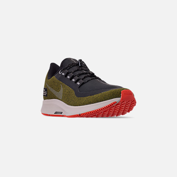 0ab117e65c0 Three Quarter view of Men s Nike Air Zoom Pegasus 35 Shield Running Shoes  in Olive Flak