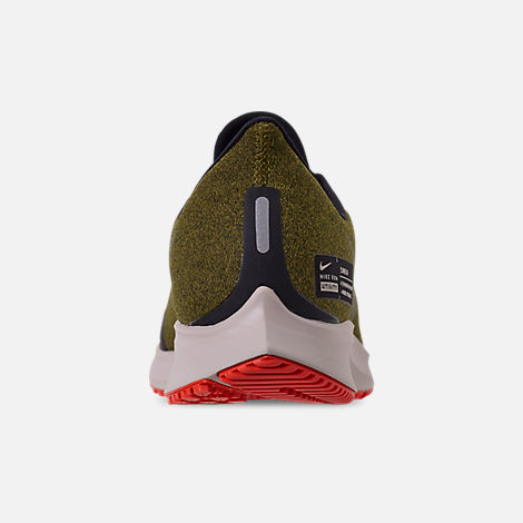 49b09aed295 Back view of Men s Nike Air Zoom Pegasus 35 Shield Running Shoes in Olive  Flak