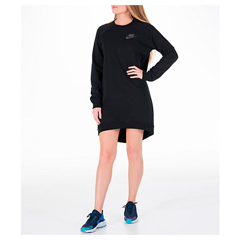 WOMEN'S SPORTSWEAR RALLY CREW DRESS, BLACK