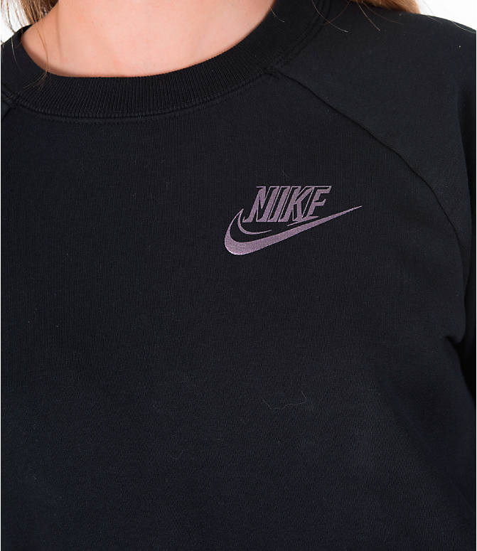 Detail 1 view of Women's Nike Sportswear Rally Crew Dress in Black/Iridescent