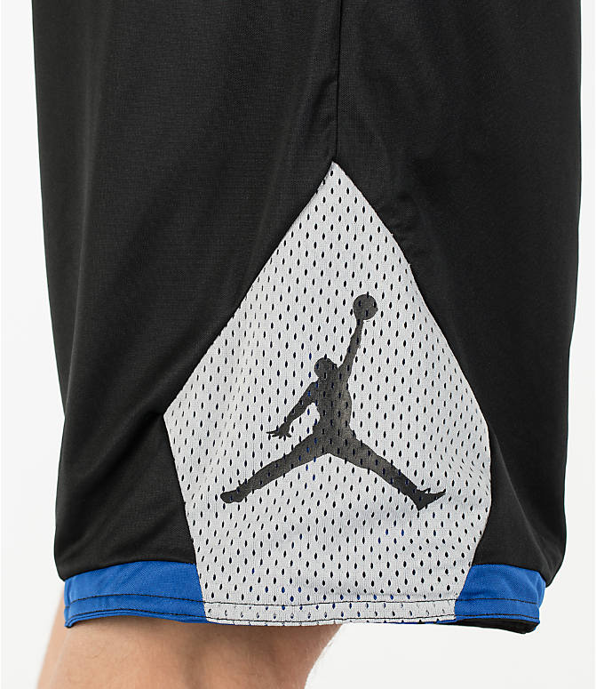 Detail 2 view of Men's Air Jordan 5 Reversible Basketball Shorts in Black/Game Royal/Wolf Grey