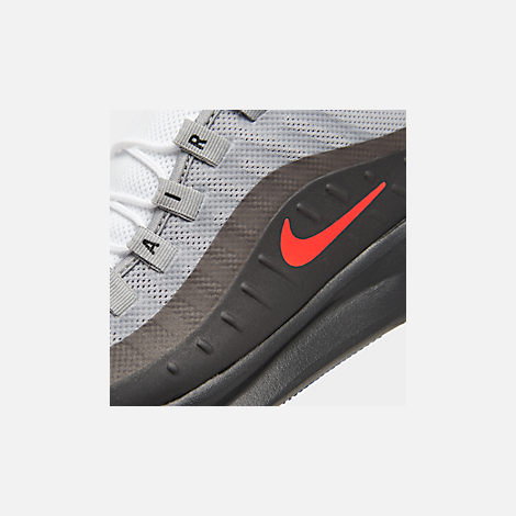 829279a379a23b Front view of Men s Nike Air Max Axis Casual Shoes in Wolf Grey Total  Crimson