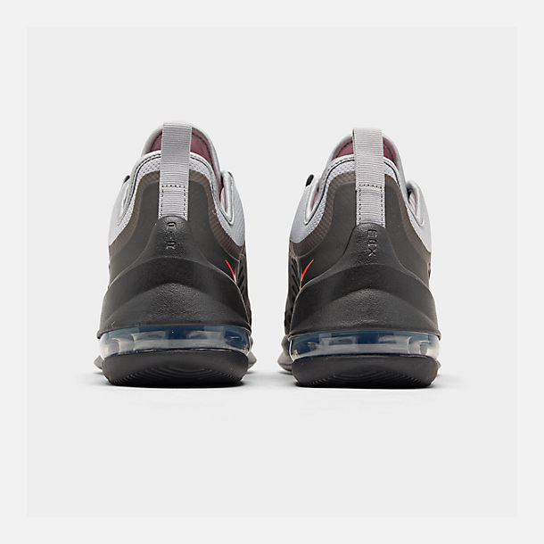 505c7f63c93eb5 Left view of Men s Nike Air Max Axis Casual Shoes in Wolf Grey Total Crimson