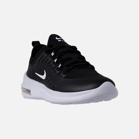 Three Quarter view of Men's Nike Air Max Axis Casual Shoes in Black/White