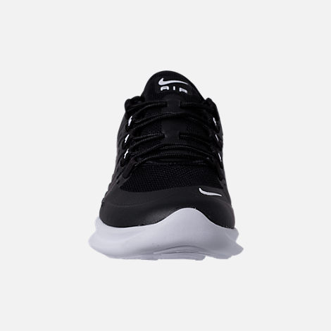 Front view of Men's Nike Air Max Axis Casual Shoes in Black/White
