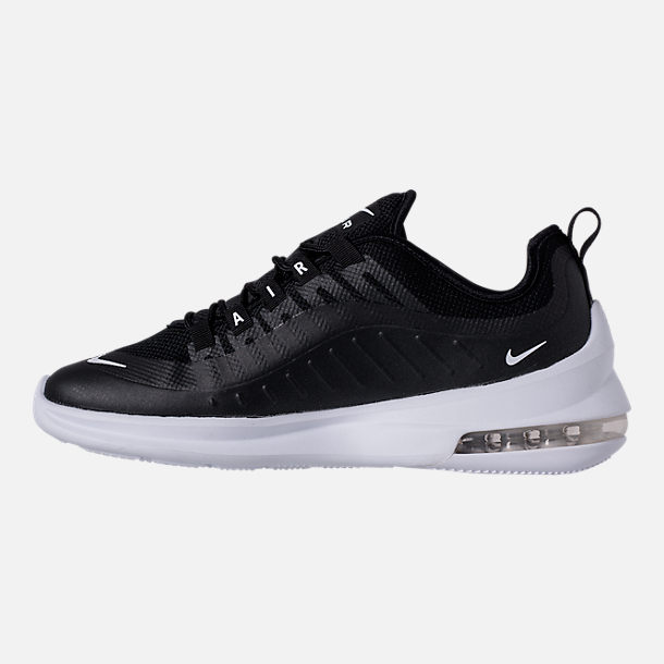Left view of Men's Nike Air Max Axis Casual Shoes in Black/White
