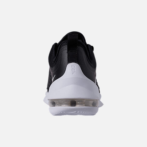 Back view of Men's Nike Air Max Axis Casual Shoes in Black/White