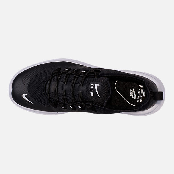 Top view of Men's Nike Air Max Axis Casual Shoes in Black/White