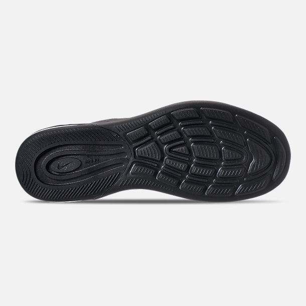 Bottom view of Men's Nike Air Max Axis Casual Shoes in Black/Black
