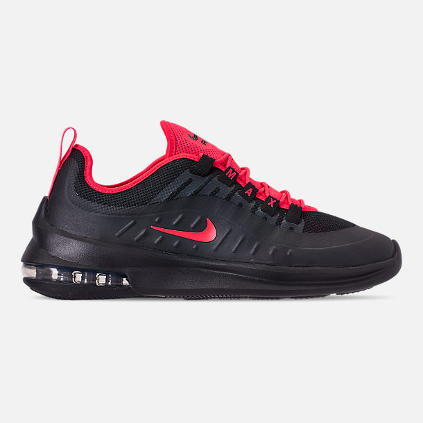 Right view of Men's Nike Air Max Axis Casual Shoes in Black/Red Orbit
