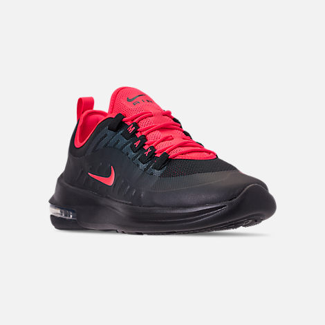 Three Quarter view of Men's Nike Air Max Axis Casual Shoes in Black/Red Orbit