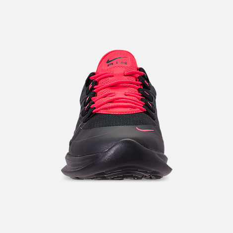 Front view of Men's Nike Air Max Axis Casual Shoes in Black/Red Orbit