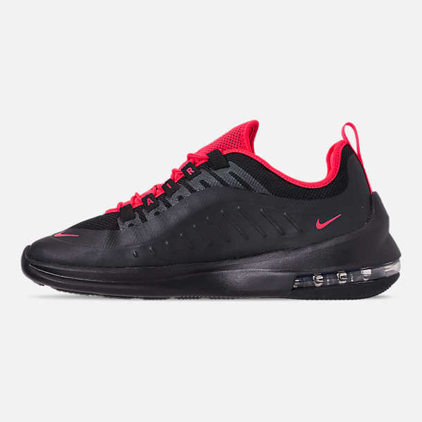 Left view of Men's Nike Air Max Axis Casual Shoes in Black/Red Orbit