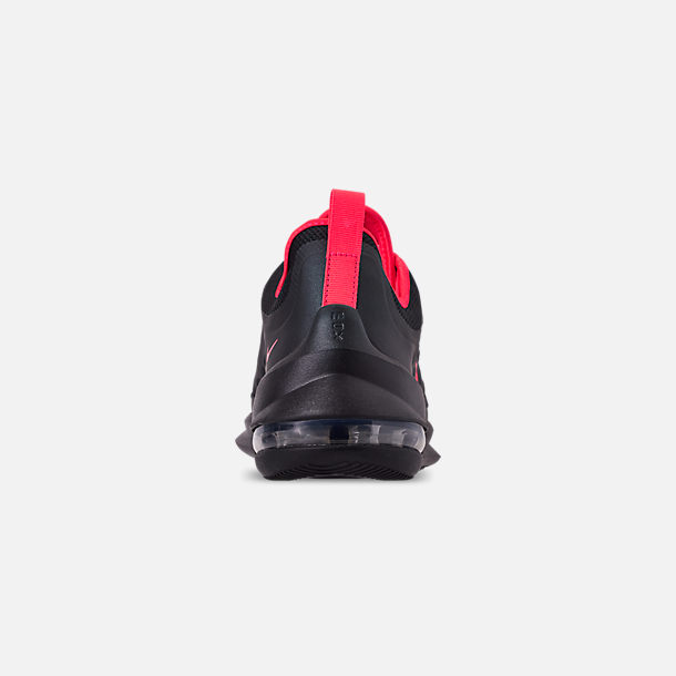 Back view of Men's Nike Air Max Axis Casual Shoes in Black/Red Orbit