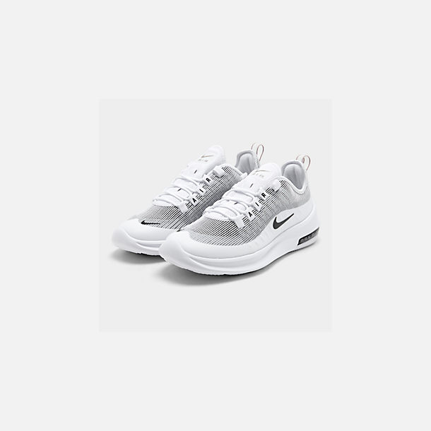 Three Quarter view of Men's Nike Air Max Axis Premium Casual Shoes in White/Black/Pumice