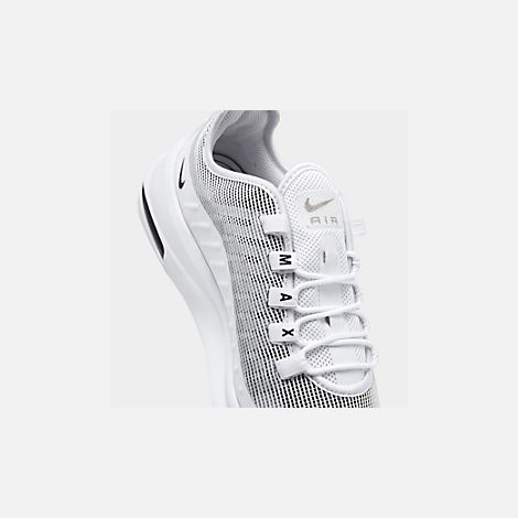 Front view of Men's Nike Air Max Axis Premium Casual Shoes in White/Black/Pumice