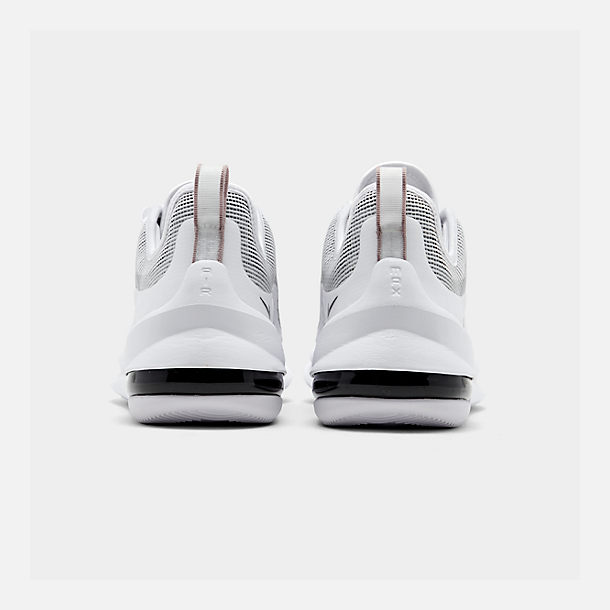 Left view of Men's Nike Air Max Axis Premium Casual Shoes in White/Black/Pumice