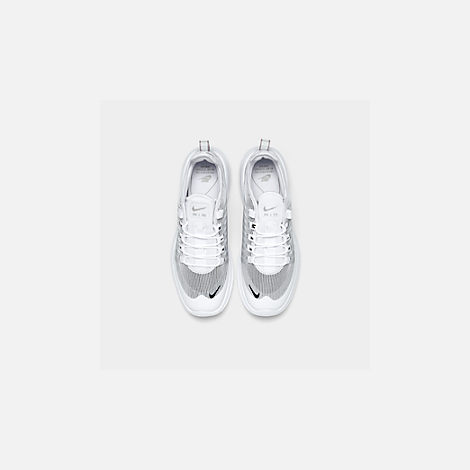 Back view of Men's Nike Air Max Axis Premium Casual Shoes in White/Black/Pumice